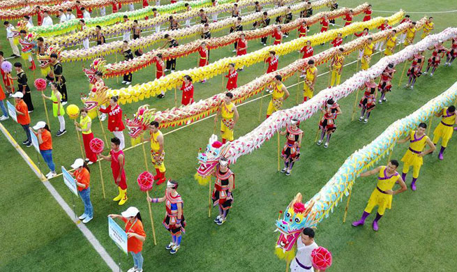 2nd Guizhou Dragon Dance Contest held in SW China