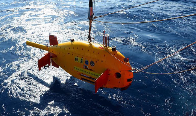 China tests underwater robot in South China Sea