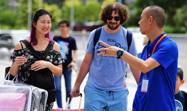 Xiamen opens volunteer service stations to greet upcoming BRICS Summit