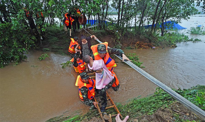 NE China's city initiates Level I emergency response for flood