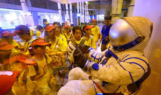Students visit China Aerospace Museum during summer vocation