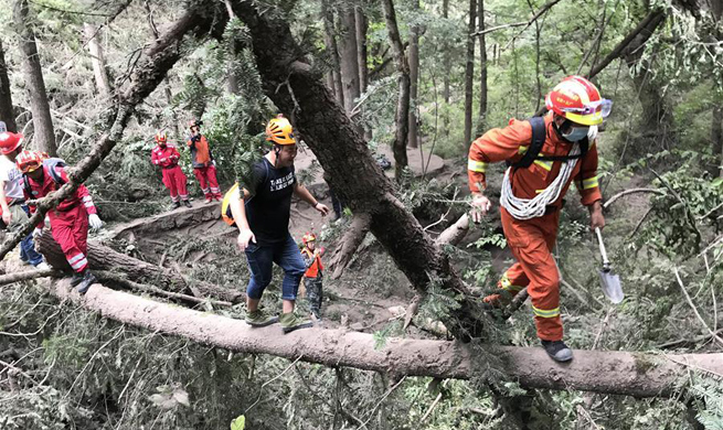Rescuers continue search in quake-hit Jiuzhaigou
