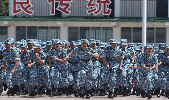 Students attend military trainings camp in HK