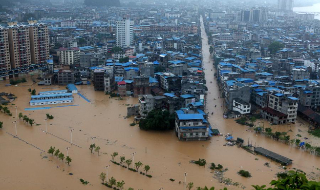 Torrential rain sweeps parts of Guangxi, S China