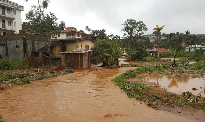 More than 300 killed in mudslide, flooding in Sierra Leone's Freetown area