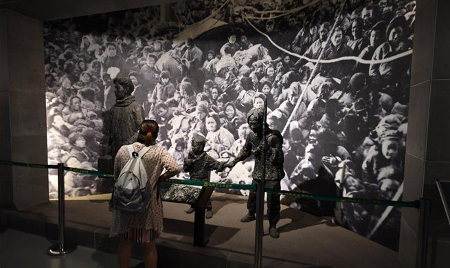 Exhibition held in NE China to mark 72nd anniv. of Japan's WWII surrender