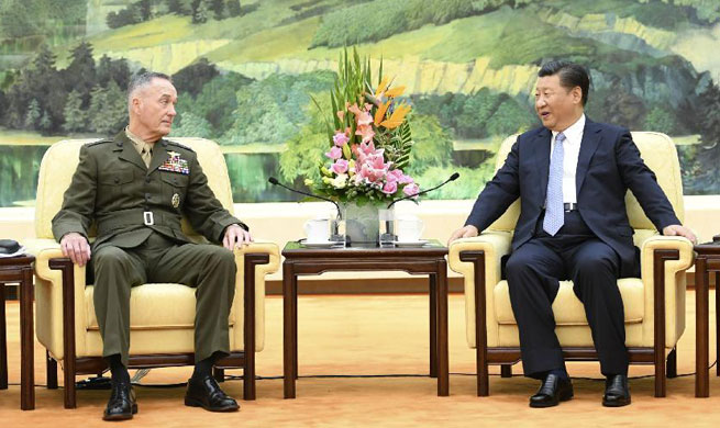 Chinese president meets top U.S. general