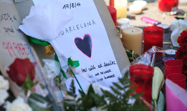 People mourn victims of Barcelona terror attack