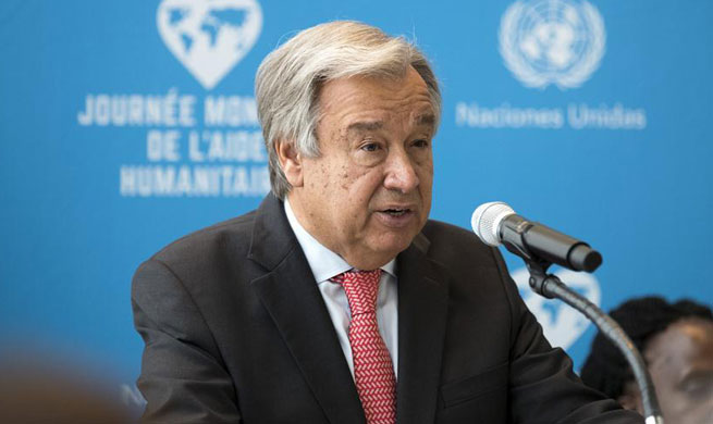 UN chief condemns attacks on civilians, aid workers to mark World Humanitarian Day