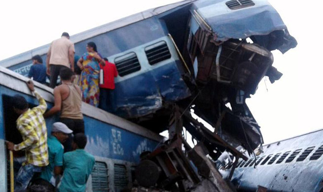 20 killed, 50 injured as train derails in India