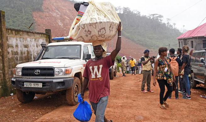 Death toll of mudslide disaster in Sierra Leone rises to 499
