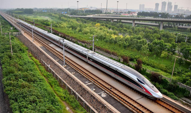 New high-speed trains run on north China lines