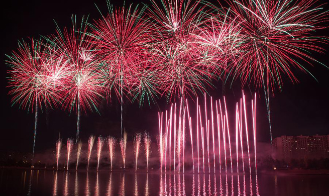 Int'l Fireworks Festival marked in Moscow