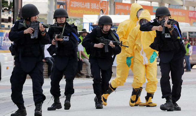 Anti-terror and anti-chemical exercise held in S. Korea