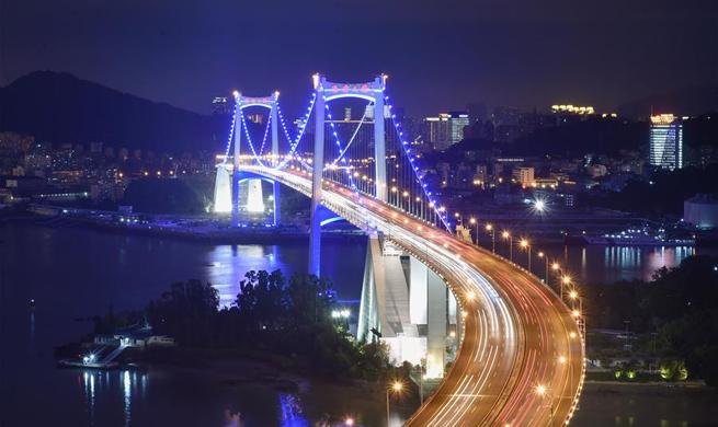 Landscape lighting lit up to greet BRICS summit in Xiamen