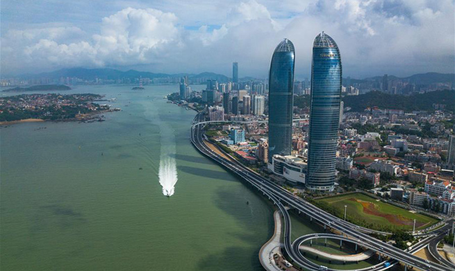Scenery of 9th BRICS summit host city Xiamen