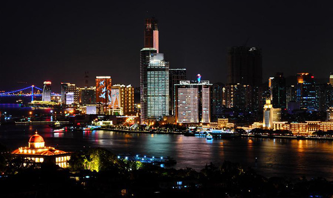 Night view of 9th BRICS summit host city Xiamen