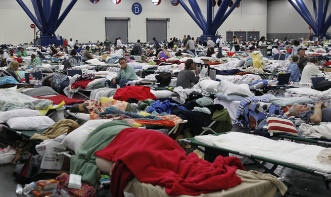 Over 17,000 Texans spend Monday night in 45 shelters across state