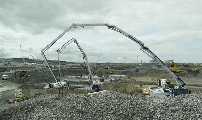 In pics: construction site of Hinkley Point C project in Britain