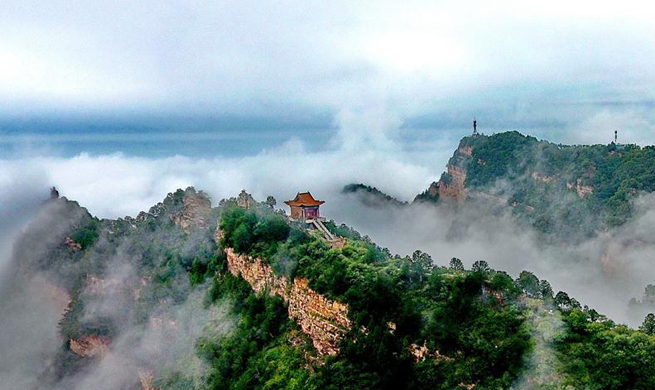 Scenery of Wulaofeng scenic spot in Yuncheng, China's Shanxi