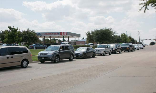 People face fuel shortage in Texas due to tropical storm Harvey