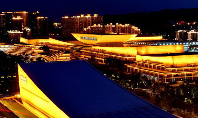 Amazing night view of Xiamen, host city for 2017 BRICS Summit