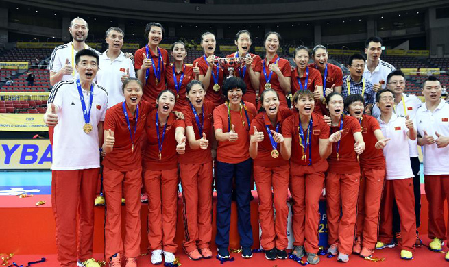 China beats Japan 3-1 to claim title at 2017 FIVB World Grand Champions Cup