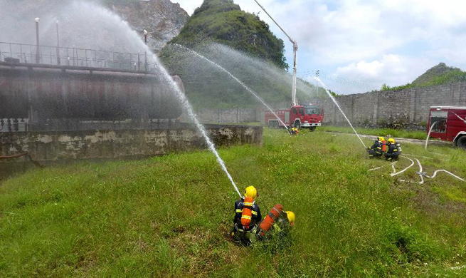 Fire drill held in S China's Guangxi