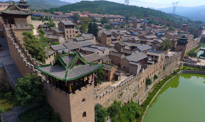 Aerial view of villages in N China's Shanxi