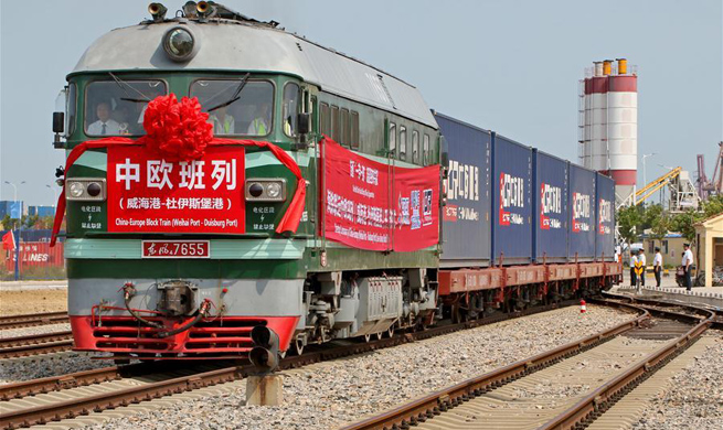 1st direct freight train service linking E China, Duisburg launched