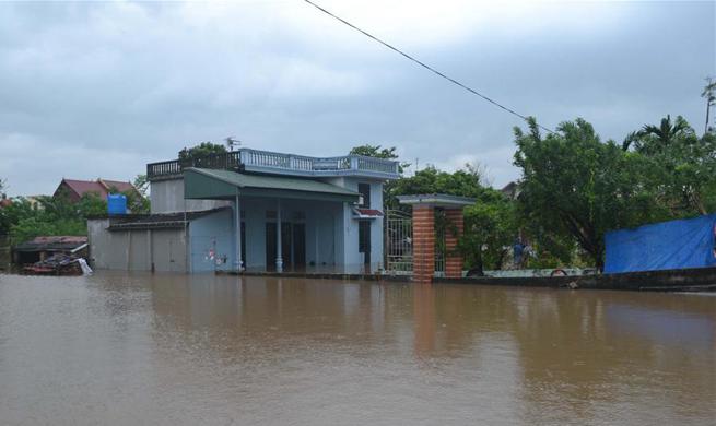 Aftermath of typhoon Doksuri in Vietnam