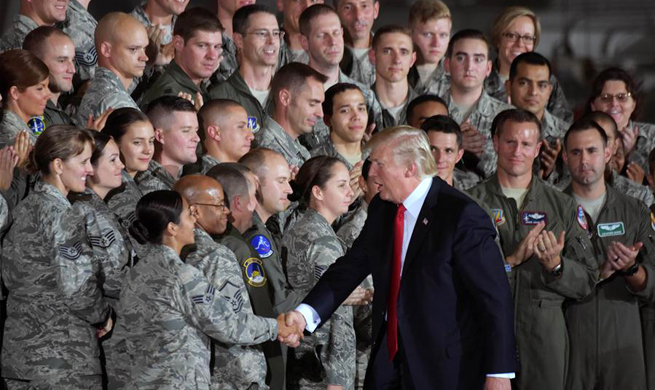 Trump visits Joint Base Andrews in Maryland