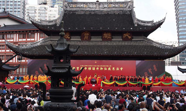 Shanghai temple's historic move completed