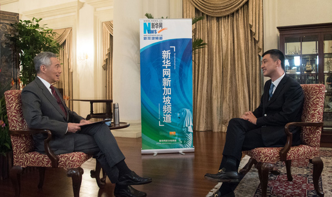 Interview: China's B&R Initiative positive to world -- Singaporean PM