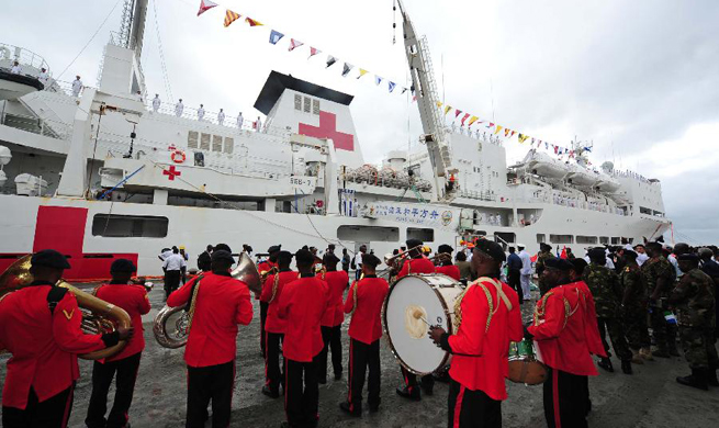 Chinese naval hospital ship Peace Ark to offer free medical services in Sierra Leone