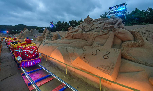 Zhoushan Int'l Sand Sculpture Festival held in E China's Zhejiang