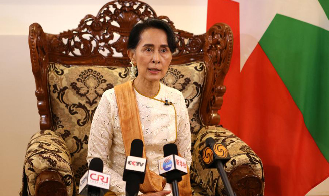 Interview: Aung San Suu Kyi stresses curbing violence without use of excessive force in Rakhine state