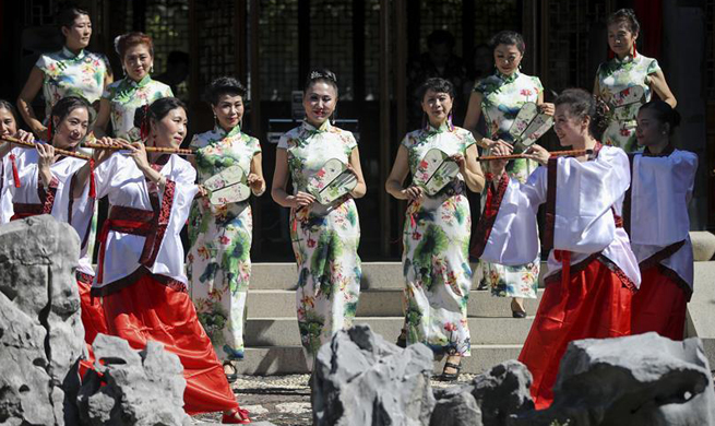 Autumn Moon Festival celebrated at Chinese Scholar's Garden in New York