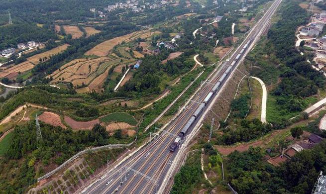 Lanzhou-Chongqing railway to open to traffic on Sept. 29