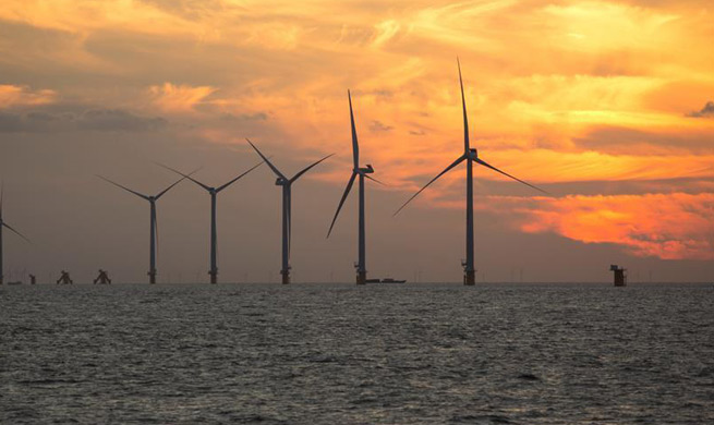 Offshore wind power plant of China Huaneng Group under full test run