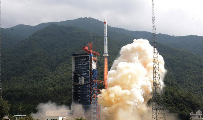 China launches three satellites