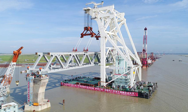 1st span of Bangladesh's largest Padma bridge successfully installed