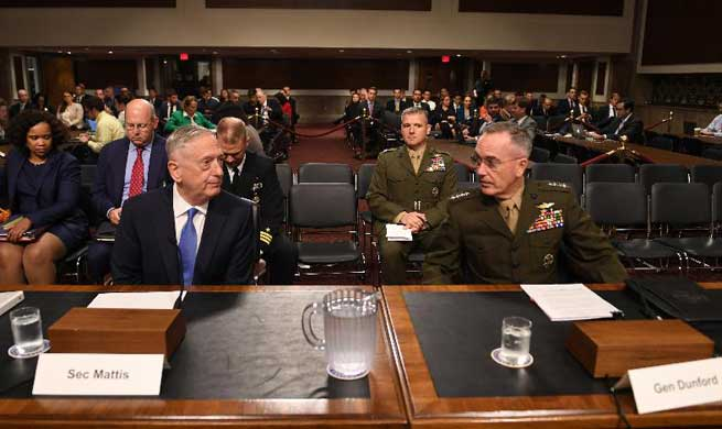 Mattis, Dunford attend hearing on Afghan situation in Washington