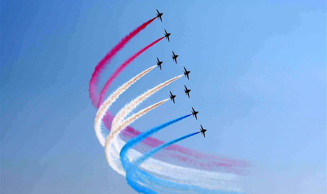 British Royal Air Force Aerobatic Team peforms in Pakistan