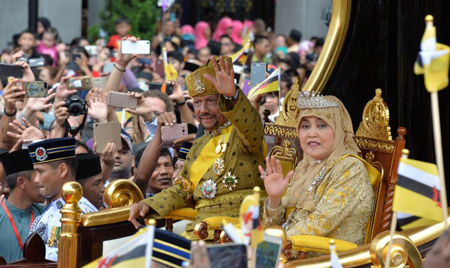 Brunei holds grand ceremony to celebrate Sultan's golden jubilee