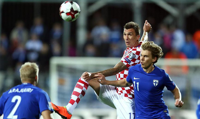 Croatia draw 1-1 with Finland in 2018 World Cup qualifiers match