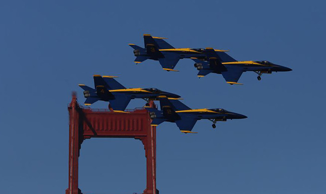 Air show performed during annual Fleet Week in San Francisco