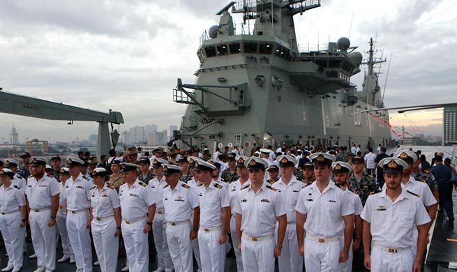 Australian warships arrive in Manila for five-day goodwill visit