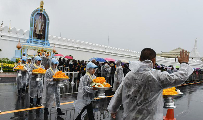 1st death anniversary of late King marked in Thailand