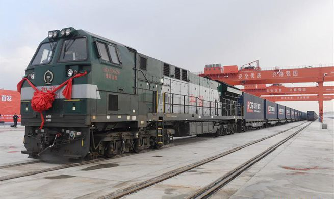 In pics: first Changchun-Hamburg freight train departs
